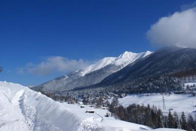 Aussicht Winter Gapphof Reith bei Seefeld